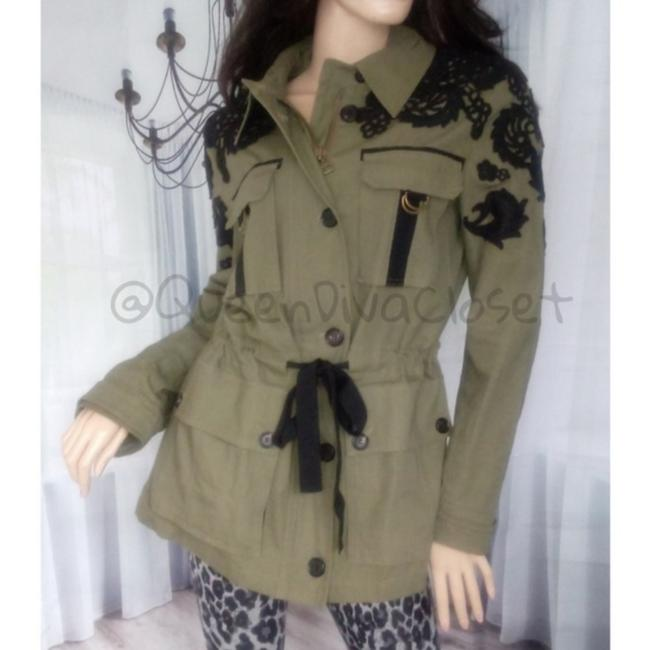 Item - L Army Olive Green Lace Utility Heritage M/L Jacket Size 10 (M)