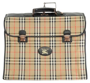 Burberry Beige/Black/Red Travel Bag