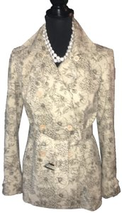 Ann Taylor Floral Raincoat Trench Coat