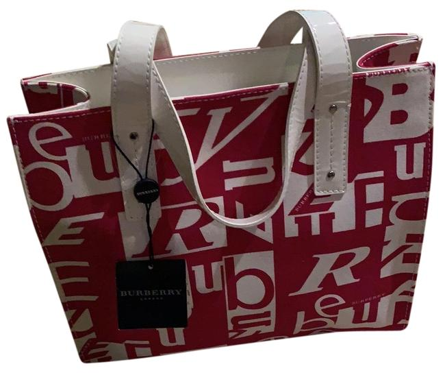 Item - Monogrammed Pink and White Canvas Tote