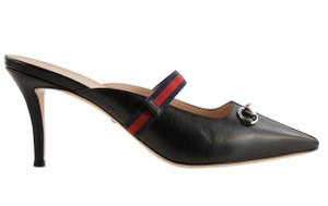Gucci Leather Black Mules