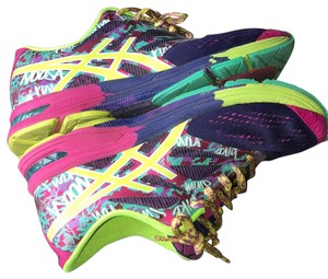 Asics Running Colorful Navy, Flash Yellow, Hot pink Athletic