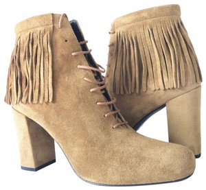daf69a3f95f Saint Laurent Tan Brown Boots. Saint Laurent Tan Brown New Ysl Fringe Boots/ Booties ...