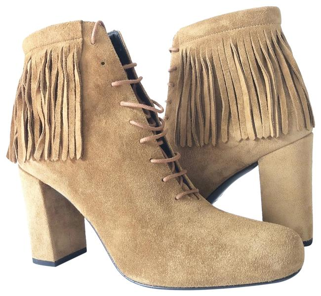 Item - Tan Brown New Ysl Fringe Boots/Booties Boots/Booties Size US 8 Regular (M, B)