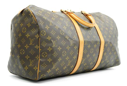 Louis Vuitton 50 Keepall Duffle Bandouliere Lv Brown Travel Bag Image 1