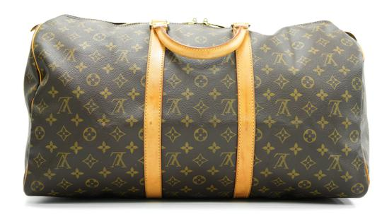 Louis Vuitton 50 Keepall Duffle Bandouliere Lv Brown Travel Bag Image 2
