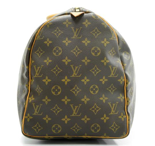 Louis Vuitton 50 Keepall Duffle Bandouliere Lv Brown Travel Bag Image 3