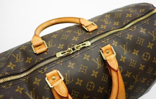 Louis Vuitton 50 Keepall Duffle Bandouliere Lv Brown Travel Bag Image 5
