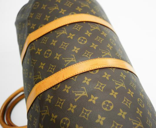 Louis Vuitton 50 Keepall Duffle Bandouliere Lv Brown Travel Bag Image 7