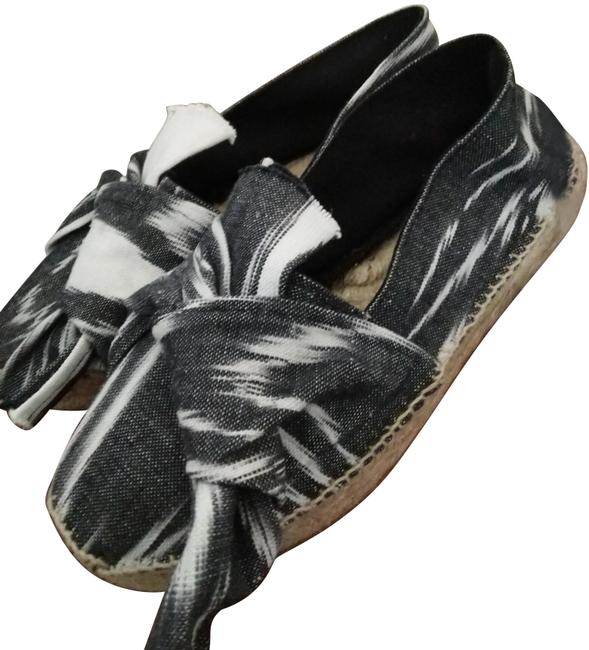 Item - Black White Natural Twist Made In Spain Front Espadrilles Flats Size EU 39 (Approx. US 9) Regular (M, B)
