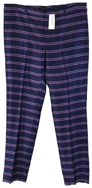 Item - Purple Navy Blue Mid-rise Striped Pleated Pants Size 8 (M, 29, 30)