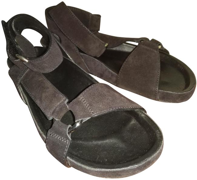 Item - Black Leather with Straps Sandals Size EU 36 (Approx. US 6) Regular (M, B)