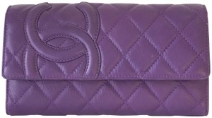 Chanel Calfskin Quilted Cambon Tri-Fold Wallet