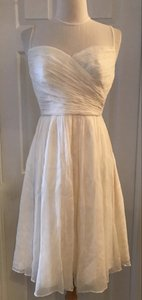 J.Crew Ivory Clara In Silk Chiffon A0011 Formal Bridesmaid/Mob Dress Size 2 (XS)
