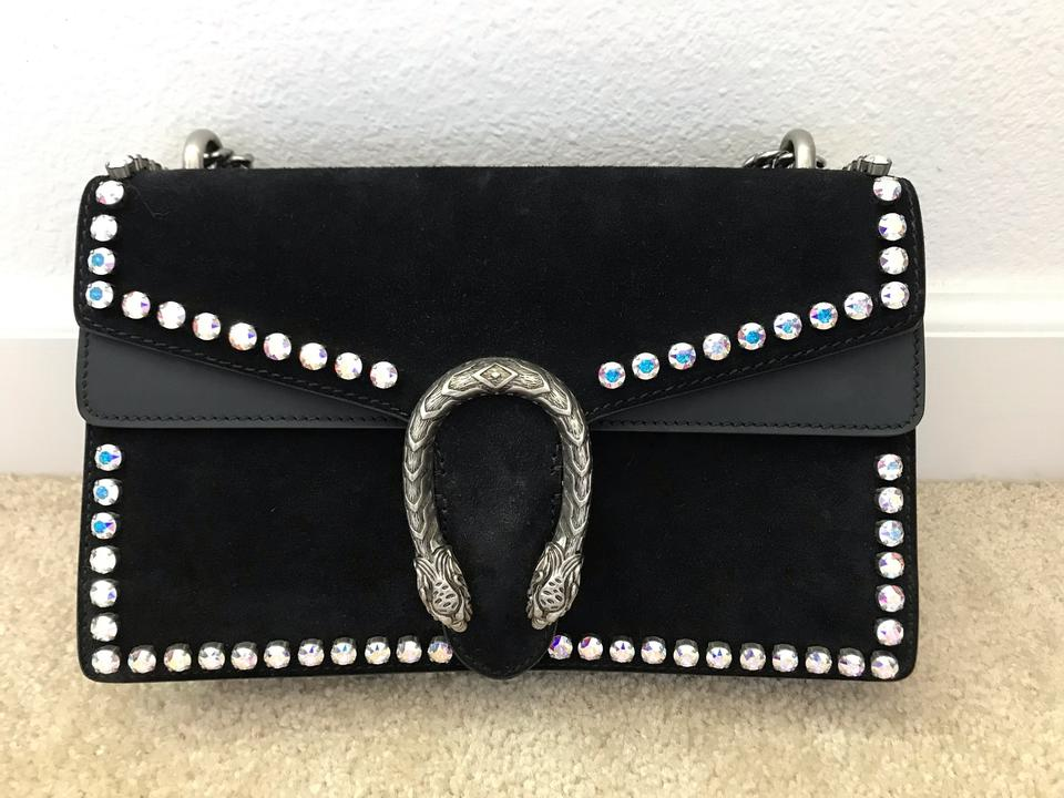 c0962ff21 Gucci Dionysus With Crystals Outer Suede Lining In Leather Shoulder Bag