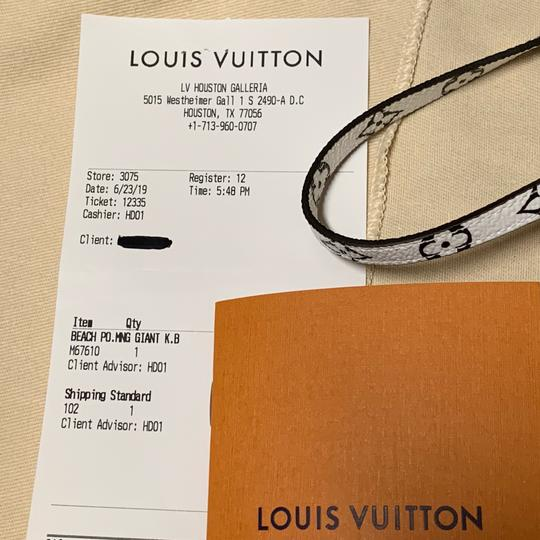 Louis Vuitton Pouch Summer 2019 Limited Edition Giant Monogram Green Beach Bag Image 10