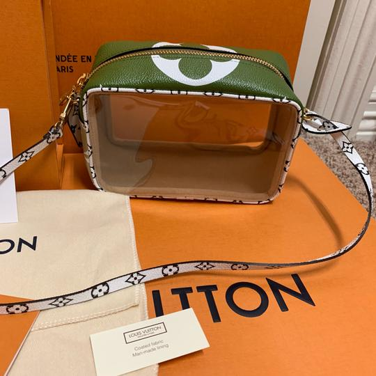 Louis Vuitton Pouch Summer 2019 Limited Edition Giant Monogram Green Beach Bag Image 5