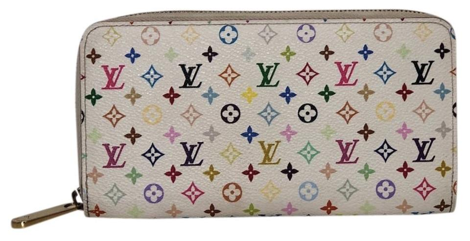 86e1dca45b0 Louis Vuitton White Zippy Limited Edition Multicolor Monogram Wallet 21%  off retail