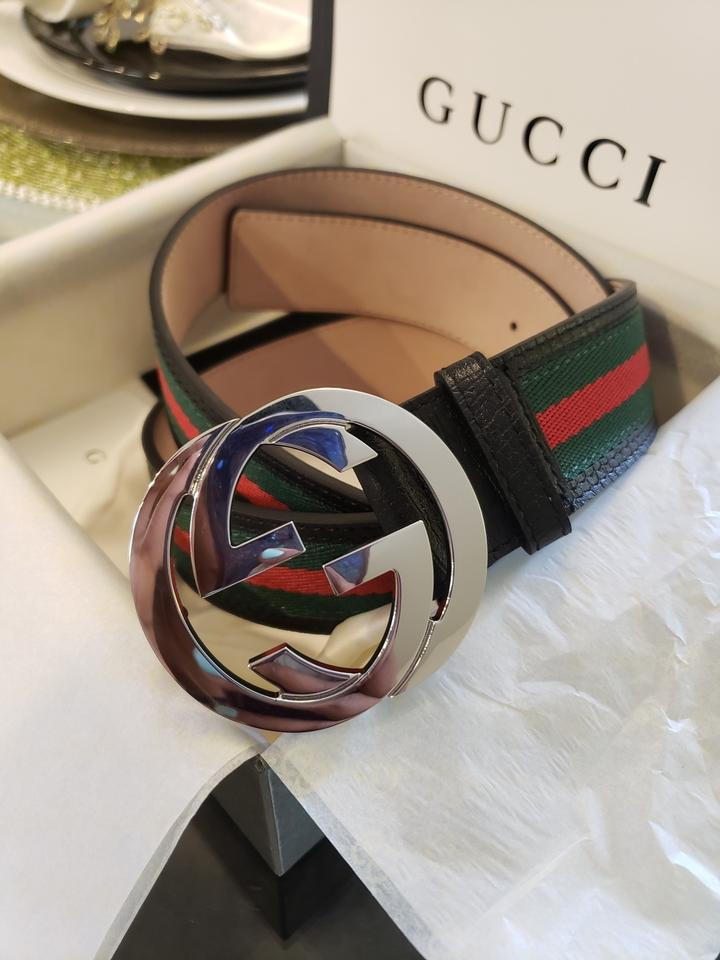 725f6c569 Gucci Gucci Web strap in green and red Image 0 ...