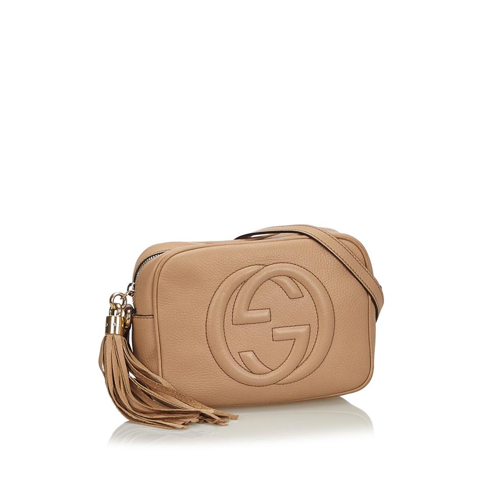 dd41093aa Gucci 9fgucx022 Vintage Leather Cross Body Bag Image 11. 123456789101112