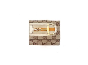 Gucci GG Monogram Compact Clutch Bifold Wallet