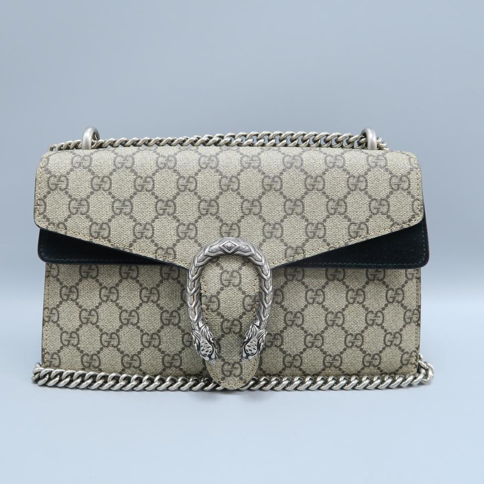 7898b15ab Gucci Dionysus Small Grey Gg Supreme Canvas Shoulder Bag - Tradesy