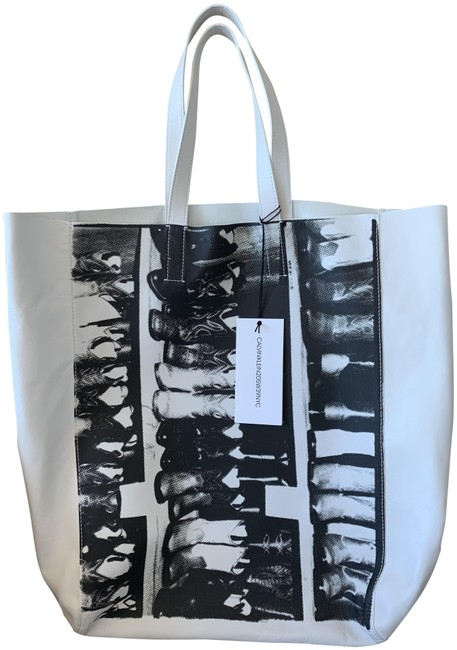 Item - Bag Cowboy Boots Black and White Leather Tote
