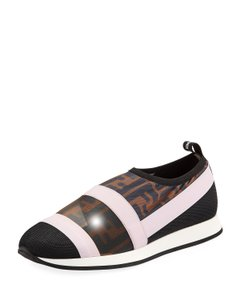 Fendi Colibri Ff Logo Sneakers Slip On Black/Brown Athletic