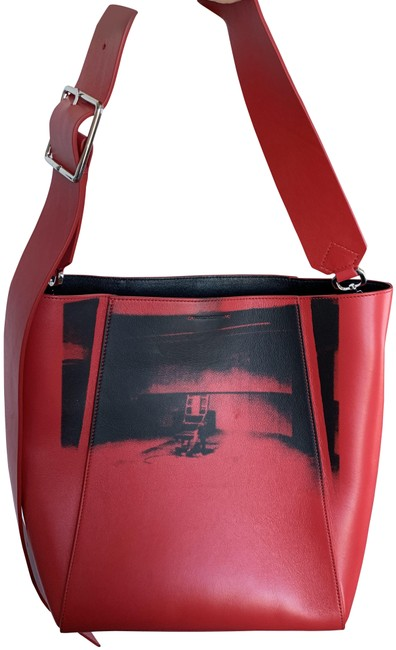 Item - Bag Cowboy Boots Red Leather Tote