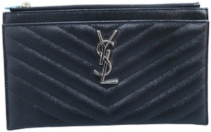 Saint Laurent Saint Laurent Black Monogram Matelassé Bill Pouch Wallet
