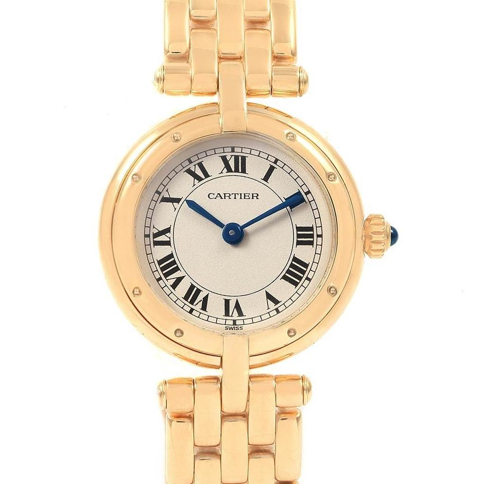 Cartier Silver Panthere Vendome 18k Yellow Gold Ladies 6692 Watch