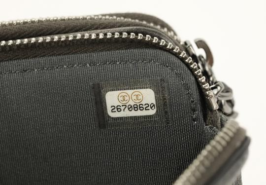 Chanel Quilted Grey Clutch Image 10
