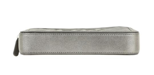 Chanel Quilted Grey Clutch Image 4