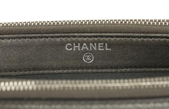 Chanel Quilted Grey Clutch Image 8