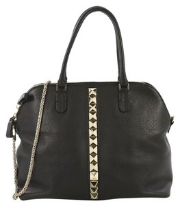 Valentino Va Voom Bowling Leather Tote in black