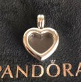 PANDORA Authentic Pandora Floating Heart Locket Pendant with May and October Droplets Image 1