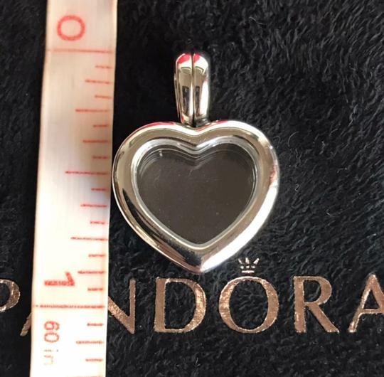 PANDORA Authentic Pandora Floating Heart Locket Pendant with May and October Droplets Image 3