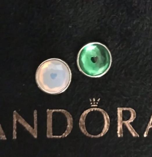 PANDORA Authentic Pandora Floating Heart Locket Pendant with May and October Droplets Image 5