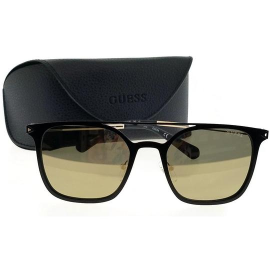 Guess GU6923-02G-53 Square Unisex Black Frame Brown Lens Genuine Sunglasses Image 4