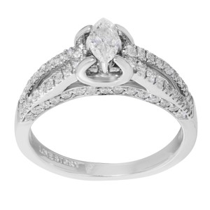 Rachel Koen Diamond Accented Marquise Cut Ladies Engagement Ring 1.05 Cts Size 7