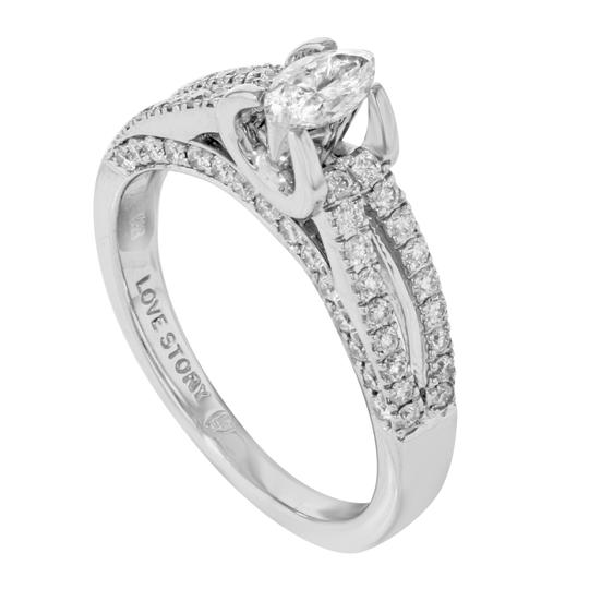 Rachel Koen Diamond Accented Marquise Cut Ladies Engagement Ring 1.05 Cts Size 7 Image 2