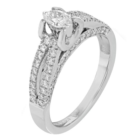 Rachel Koen Diamond Accented Marquise Cut Ladies Engagement Ring 1.05 Cts Size 7 Image 3