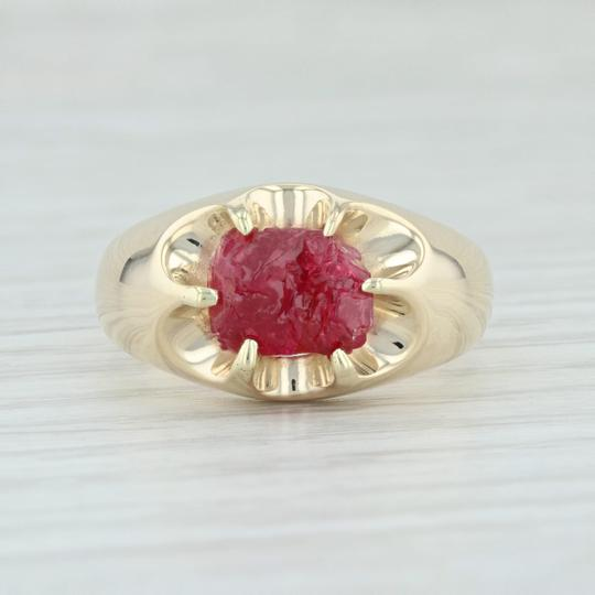 Other Vintage 3.54ct Mogok Ruby Ring - 14k Size 8.75 Rough Cut Solitaire Image 1