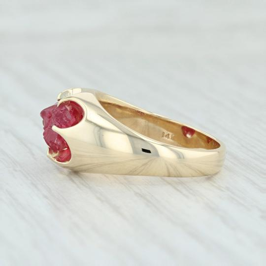 Other Vintage 3.54ct Mogok Ruby Ring - 14k Size 8.75 Rough Cut Solitaire Image 2