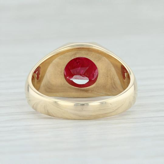 Other Vintage 3.54ct Mogok Ruby Ring - 14k Size 8.75 Rough Cut Solitaire Image 3