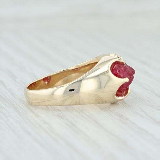 Other Vintage 3.54ct Mogok Ruby Ring - 14k Size 8.75 Rough Cut Solitaire Image 4