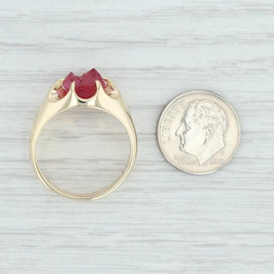 Other Vintage 3.54ct Mogok Ruby Ring - 14k Size 8.75 Rough Cut Solitaire Image 5