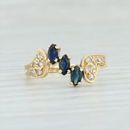 Other .71ctw Sapphire & Diamond Bypass Ring - 18k Yellow Gold Size 7.5 Image 1