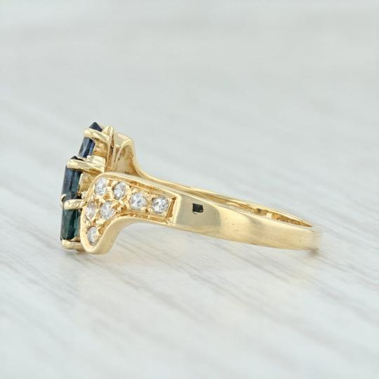 Other .71ctw Sapphire & Diamond Bypass Ring - 18k Yellow Gold Size 7.5 Image 2