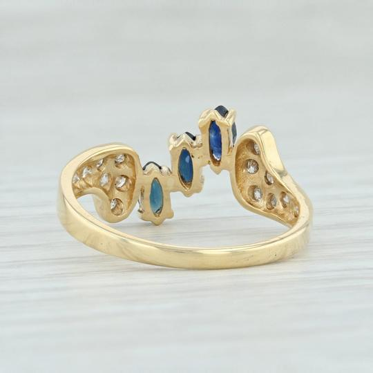 Other .71ctw Sapphire & Diamond Bypass Ring - 18k Yellow Gold Size 7.5 Image 3